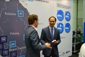 Rennie Roos together with GreenTech CEO, Ahmad Hadri Haris